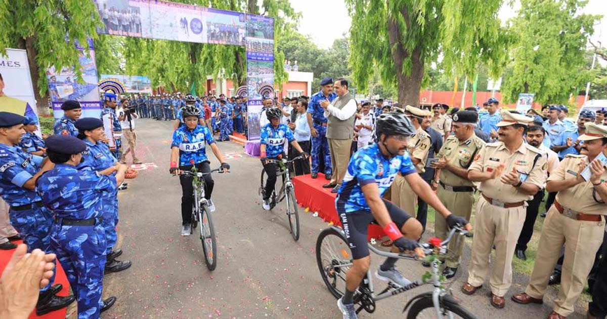 Cycle Rally of CRPF jawans